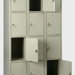 шкаф металлический для сумок 12 ячеек