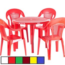 Стол стул пластиковый круглый