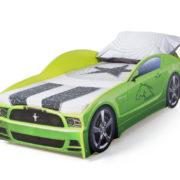 кровать машина мустанг зеленая