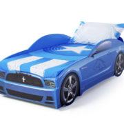 кровать машина мустанг синий